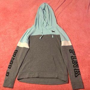 PINK VS Teal and Gray Sweatshirt